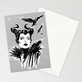 Maleficent Fan Art Angelina Jolie from Sleeping Beauty Stationery Cards