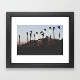 Hollywood Sign Through Palm Trees Framed Art Print