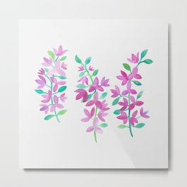 Bougainville - Watercolour Metal Print