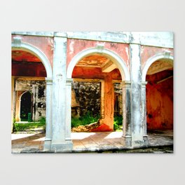 Haunted Harbour Island House Canvas Print