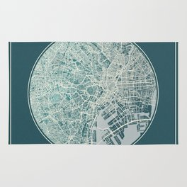 Tokyo Map Planet Rug