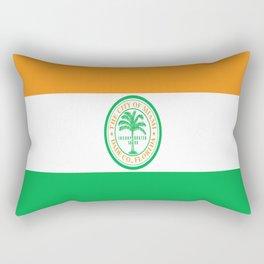 American cities-  Flag of Miami Rectangular Pillow