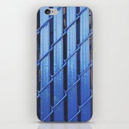 Blue Fence iPhone Skin