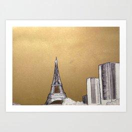Gold Eiffel Art Print