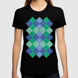 Blue-Green Argyle T-shirt