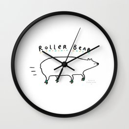 Roller Bear Wall Clock