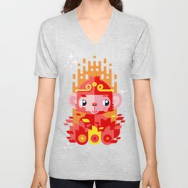 Fire Monkey Year Unisex V-Neck