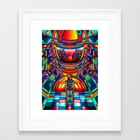 2001 a space odyssey Framed Art Prints featuring 2001 a space odyssey by Van Orton Design