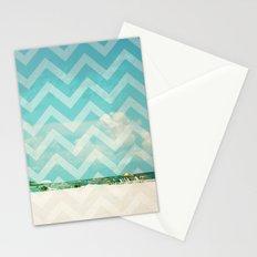 Chevron Beach Dreams Stationery Cards