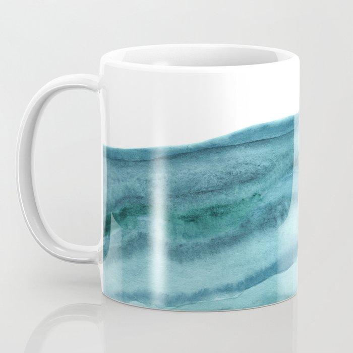 Watercolor Agate - Teal Blue Coffee Mug