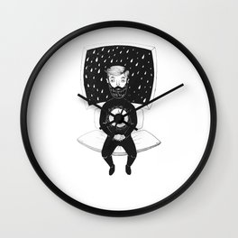 burning man Wall Clock