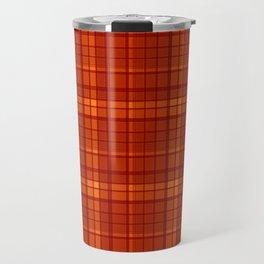 Orange plaid Travel Mug