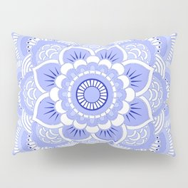 Periwinkle Mandala Flower Pillow Sham