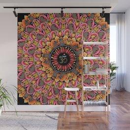 Pug Yoga Mandala Wall Mural