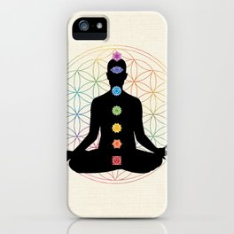 Sacred Geometry Flower of Life Chakra Meditation iPhone Case