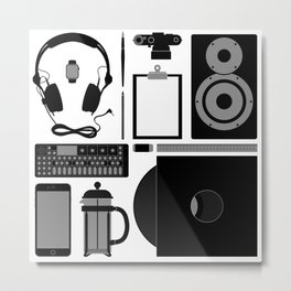 Studio Objects Vector Illustration Metal Print