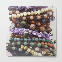 Beaded bracelets Metal Print