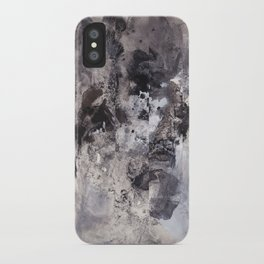 Monochrome Chaos iPhone Case