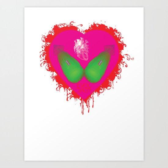 lovebomb-iiis - élan vital ephemeral - in_destruction creation! (blood splatter v) Art Print