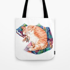 Zoi's Winter Nap Tote Bag