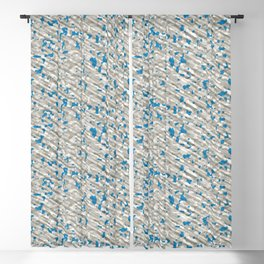 Blue Brown White Army Camouflage Blackout Curtain