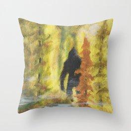 Sasquatch in Fall - aka Blob squatch Throw Pillow