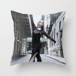 Grunge Ballet Throw Pillow