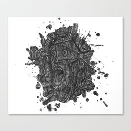 I'm Freaking Out Man!  Splat Version Canvas Print