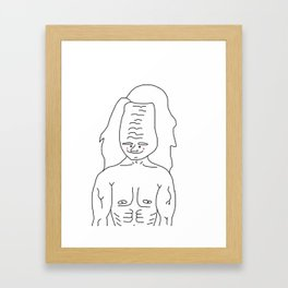 A man named Jolene. Framed Art Print