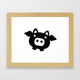 Pigs Will Fly (b&w) Framed Art Print