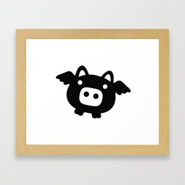 Pigs Will Fly (b&w) Framed Art Print