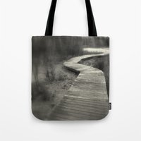 boardwalk empire Tote Bags featuring Boardwalk by Curt Saunier