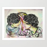 larry Art Prints featuring Larry by Peek At My Dreams