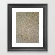 sandstone texture Framed Art Print