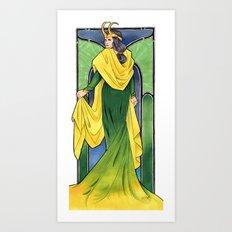 Lady Loki Art Print
