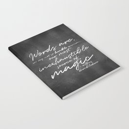 Words Are Magic (Dark) Notebook