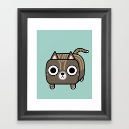 Cat Loaf - Brown Tabby Kitty Framed Art Print