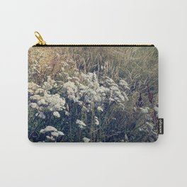 Rustic Field of Vintage Country Daisies Carry-All Pouch