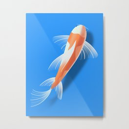 Koi Fish 3D Illustration  Metal Print