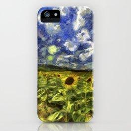 Summer Sunflowers Van Gogh iPhone Case