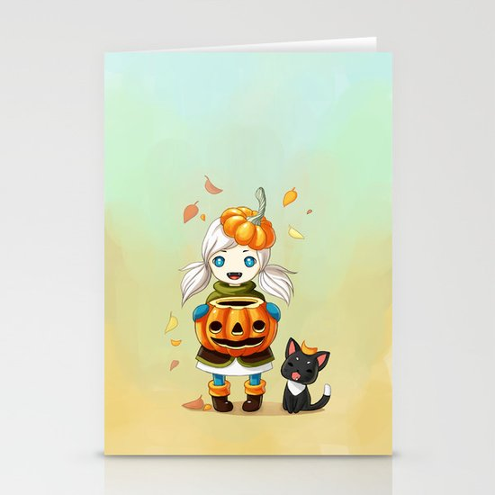 Pumpkin 2 Stationery Cards