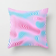 DISTORTION COLD Throw Pillow