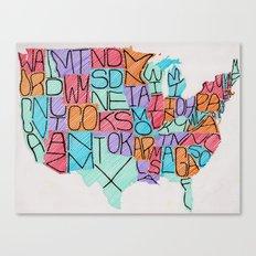 USA in color Canvas Print