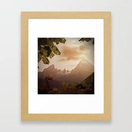 Framed by foliage Framed Art Print