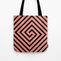 greek Tote Bags featuring Peachy Greek by Lyle Hatch