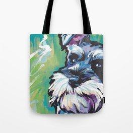 Fun Schnauzer Dog Portrait bright colorful Pop Art Painting by LEA Tote Bag