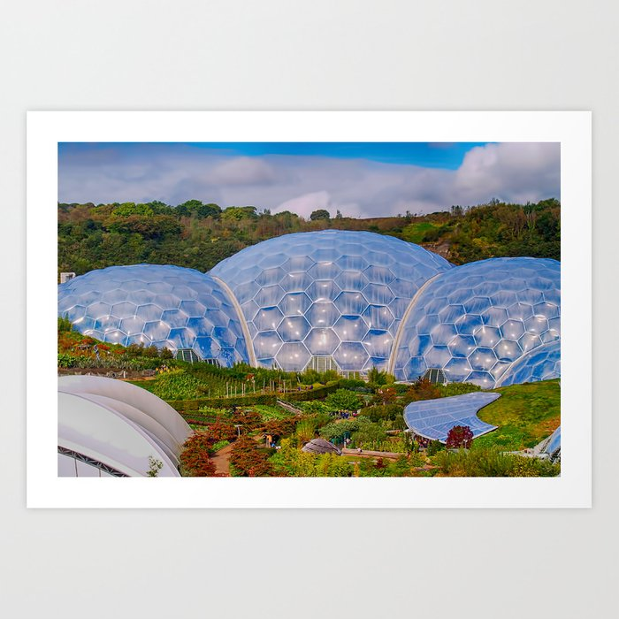 Eden Project Biomes Art Print By Christhaxter