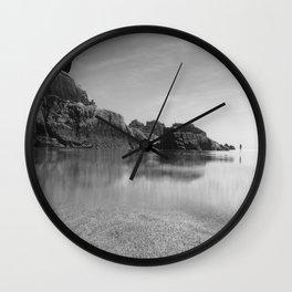 Solitude on Pedn Vounder Beach Wall Clock