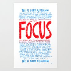 FOCUS 2017, by Courtney Martin and Wendy MacNaughton Art Print