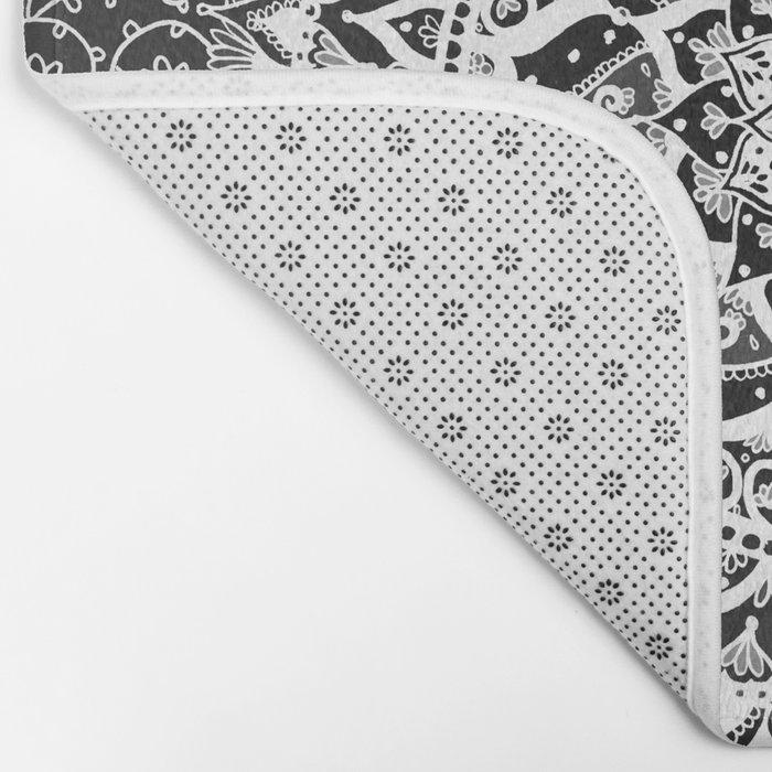 Yin Yang Mandala Pattern Bath Mat